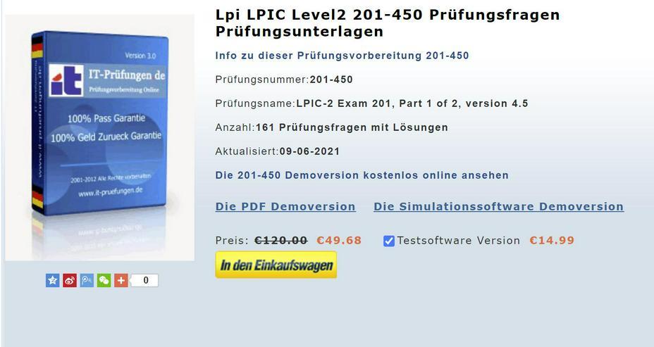 LPI zertifizierung 201-450 Prüfungsfragen