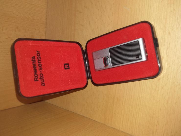 Feuerzeug ROWENTA Rasierapparat mit Etui+Verpackung