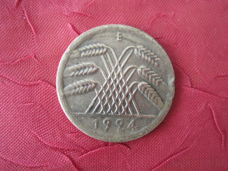 Bild 2: Alte Münze  50 Pfennig 1924 E Rentenpfennig Deutschland, Weimarer Republik