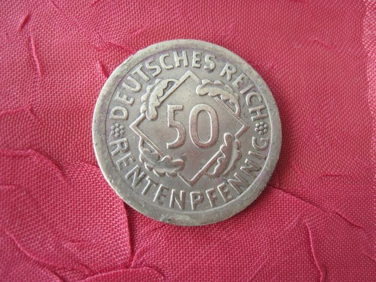 Alte Münze  50 Pfennig 1924 E Rentenpfennig Deutschland, Weimarer Republik