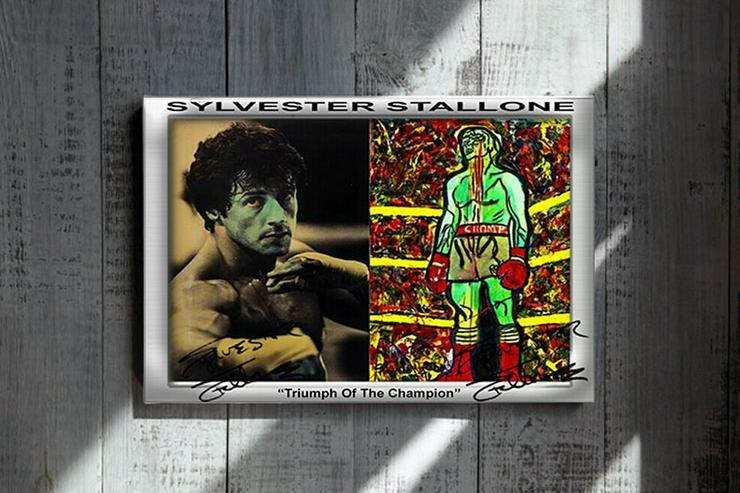 Sylvester Stallone Star Souvenir. Super Deko. Geschenkidee.  Einmalig! Wandbild. Neuheit! Sammelobjekt. Zimmerdeko. Unikat! Blickfang!