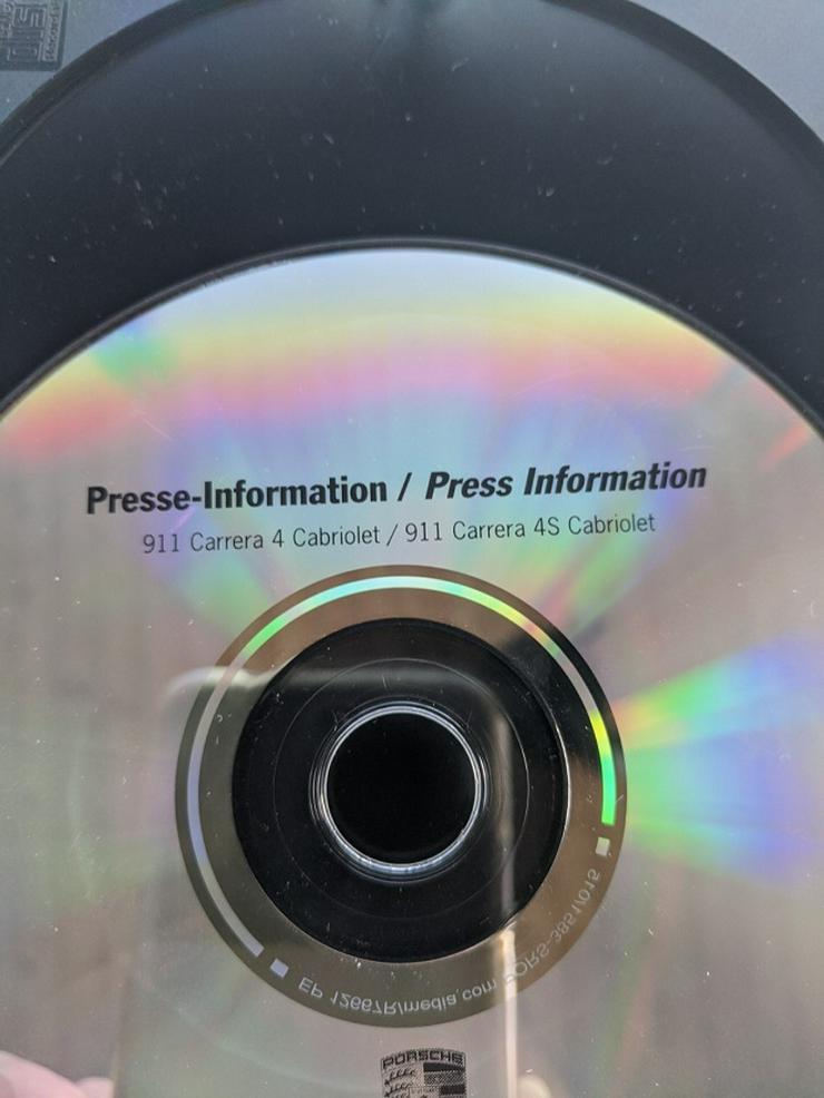 Porsche Presse Info CD aus 2005 für Carrera4 + 4S Cabrios Modeljahr 2006