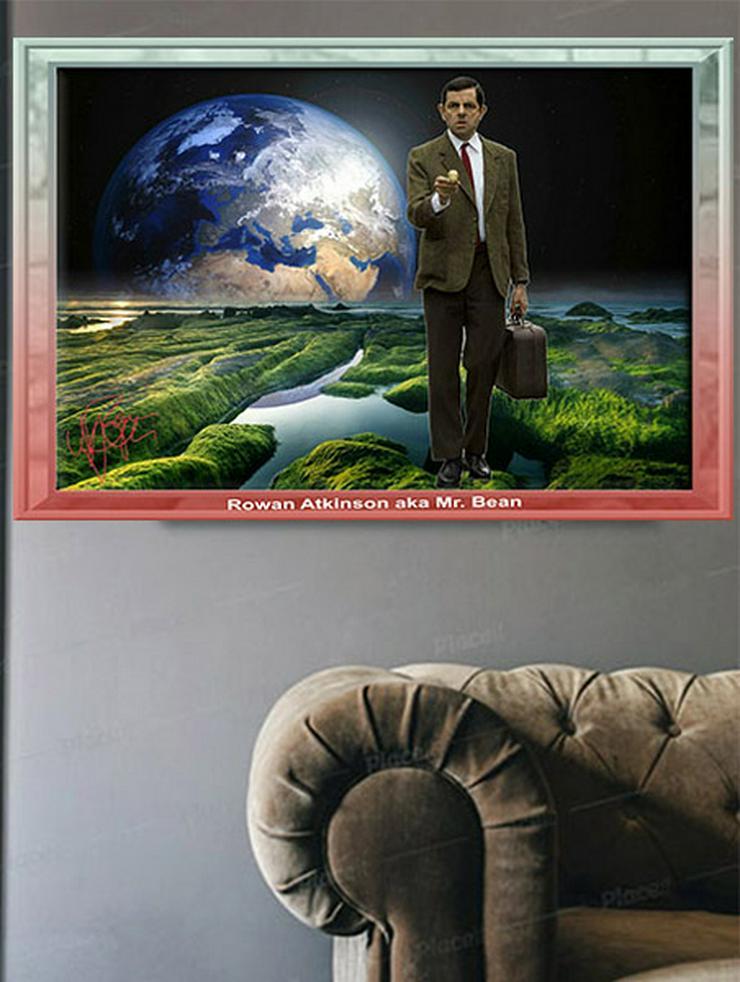 Rowan Atkinson/Mr. Bean. Einmaliger Kunstdruck. 45x30 cm. Muss man haben! Souvenir. Wandbild. Geschenk. Andenken. Sammelobjekt. Deko. Rarität. BRANDNEU!