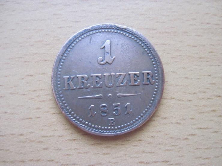 1 Kreuzer 1851 B, Österreich, Habsburger , Franz Joseph I.
