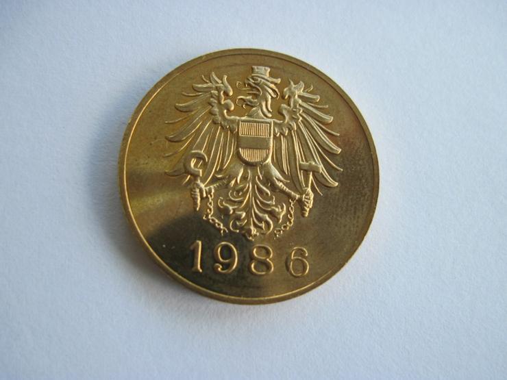 Bild 2: Medaille Wien 1986 Hauptmünzamt