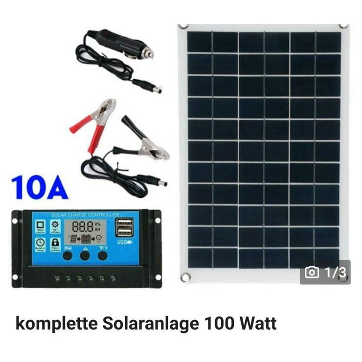 komplette Solaranlage 100 Watt