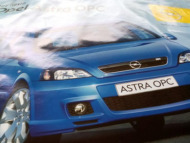 Orginal Opel Werks Plakat Astra OPC