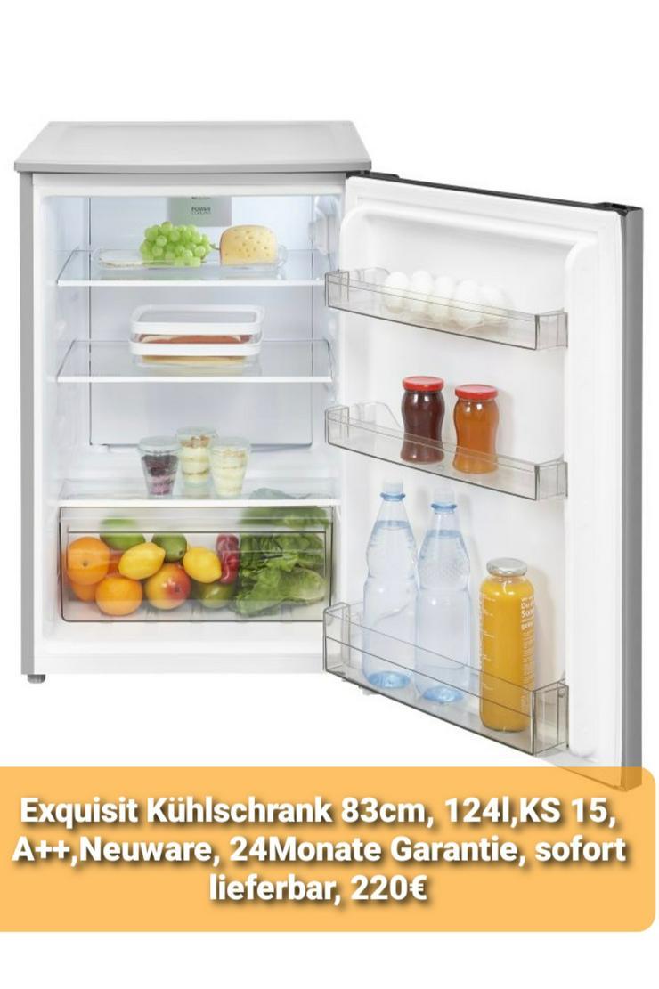 Exquisit Kühlschrank 83cm, 124l, KS 15