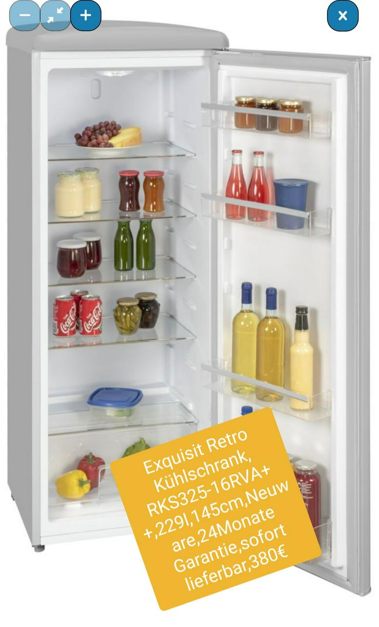 Exquisit Retro Kühlschrank, RkS325-16RVA++, 229l, 145cm