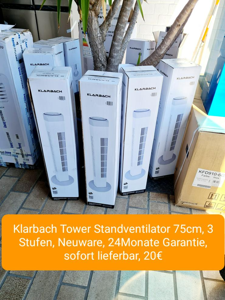 Klarbach Tower Standventilator, 75cm, 3 Stufen