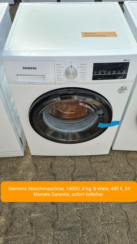Siemens Waschmaschine, 1400U, 8kg