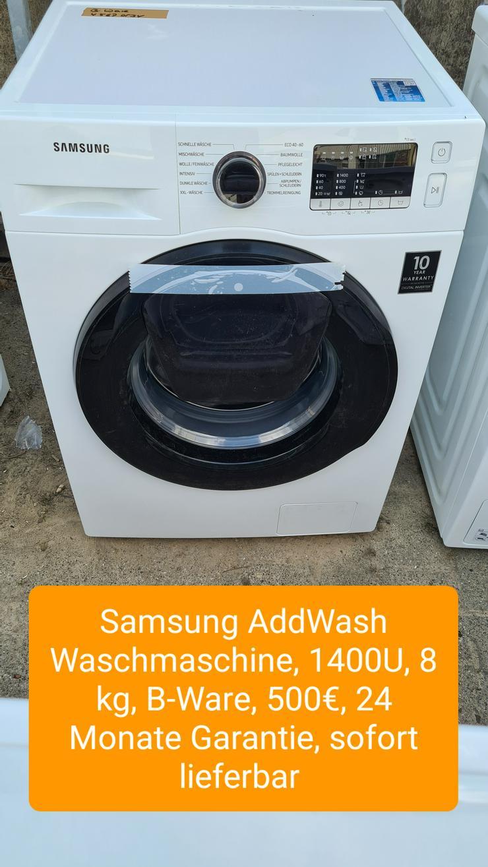 Samsung Addwash Waschmaschine, 1400U, 8kg