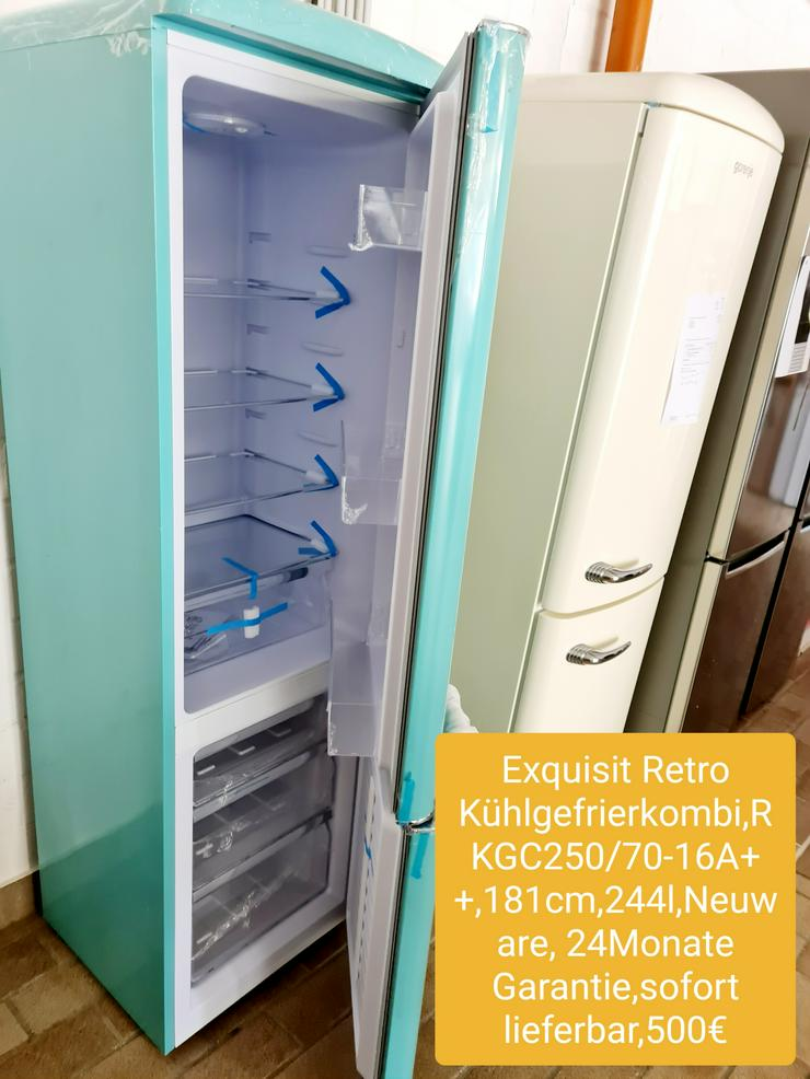 Exquisit Retro Kühlgefrierkombi, 181cm, 144l