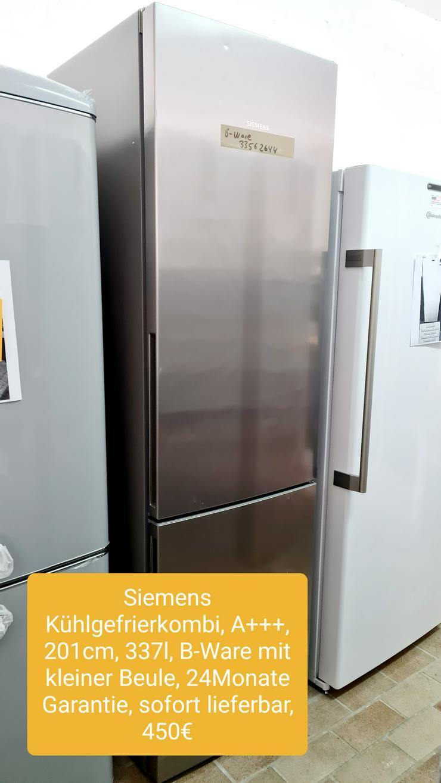 Siemens Kühlgefrierkombi 201cm, 337L