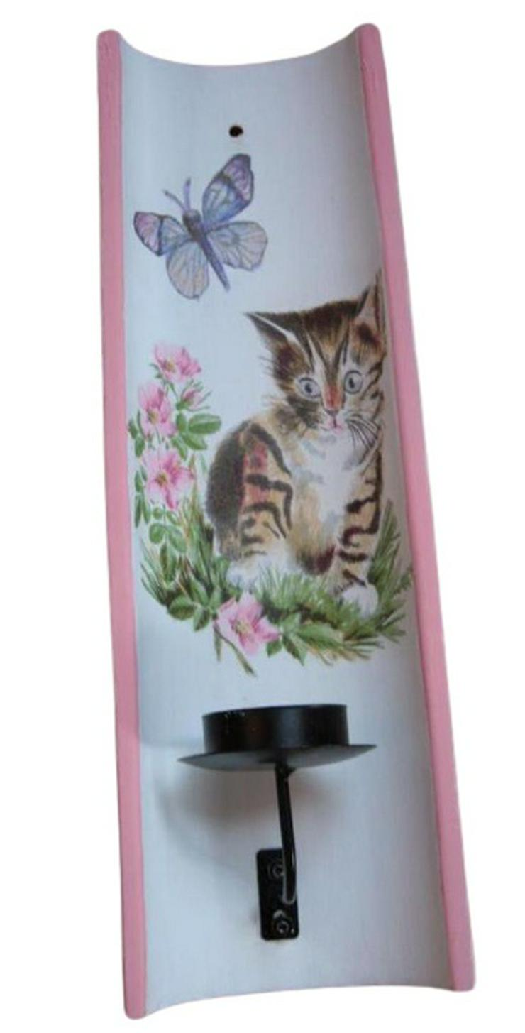 Wand Teelichthalter Katze