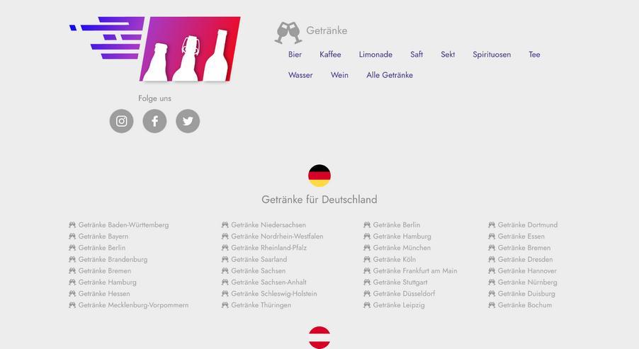 Bild 4: Getränke Onlineshop Domains Logo Projekt Aufgabe Startup