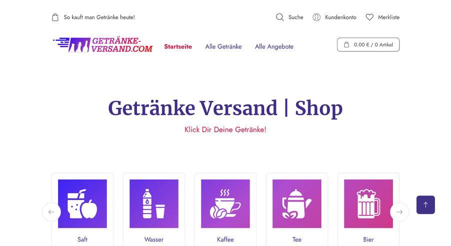 Bild 2: Getränke Onlineshop Domains Logo Projekt Aufgabe Startup