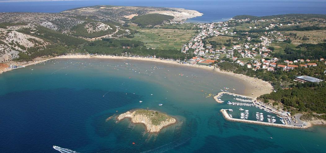 Rab Kroatien -Ferienwohnugen, 100 m vom Strand