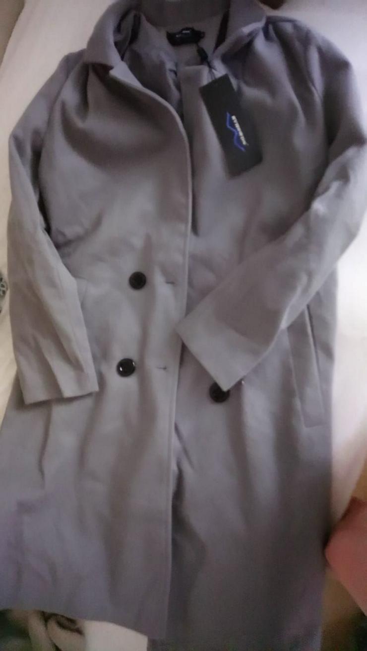 D-Mantel in grau, Größe: 36-38, NEU noch nicht getragen