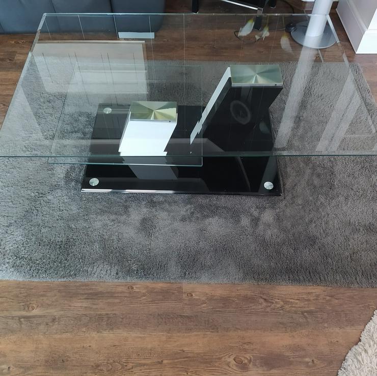 moderner Glastisch / Couchtisch / Wohnzimmertisch