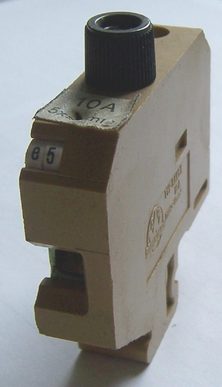 Sicherungsreihenklemme – Phoenix SAKS1, mit Schraubkappe