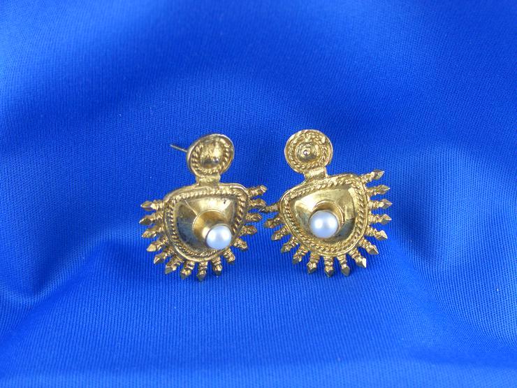 Antike Ohrringe / Gehänge / Vintage 60er oder älter / Silber 925 / Designer - Unikat