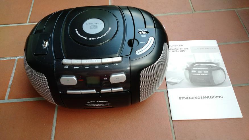 Radiorekorder mit CD Player (MP3) und USB Steckplatz (MP3)
