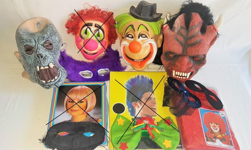 Faschingskostüme – Masken – Perücken  Frauen - Männer - Kind