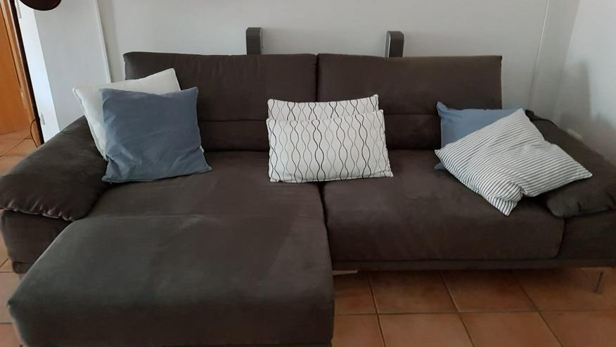 Sofa 3er mit Ottomanne(rechts) und Schlaffunktion & Fernbedienung