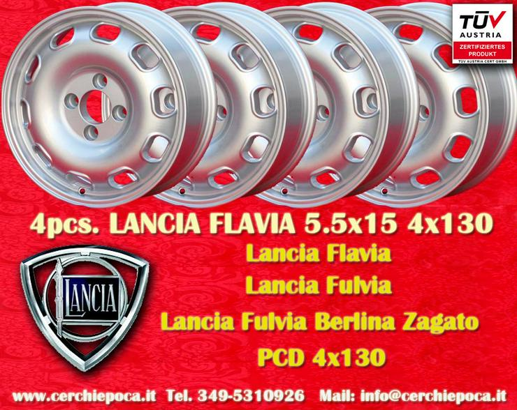 4 Felgen Lancia Flavia Ardea Aprilia Appia 5.5x15 mit TUV
