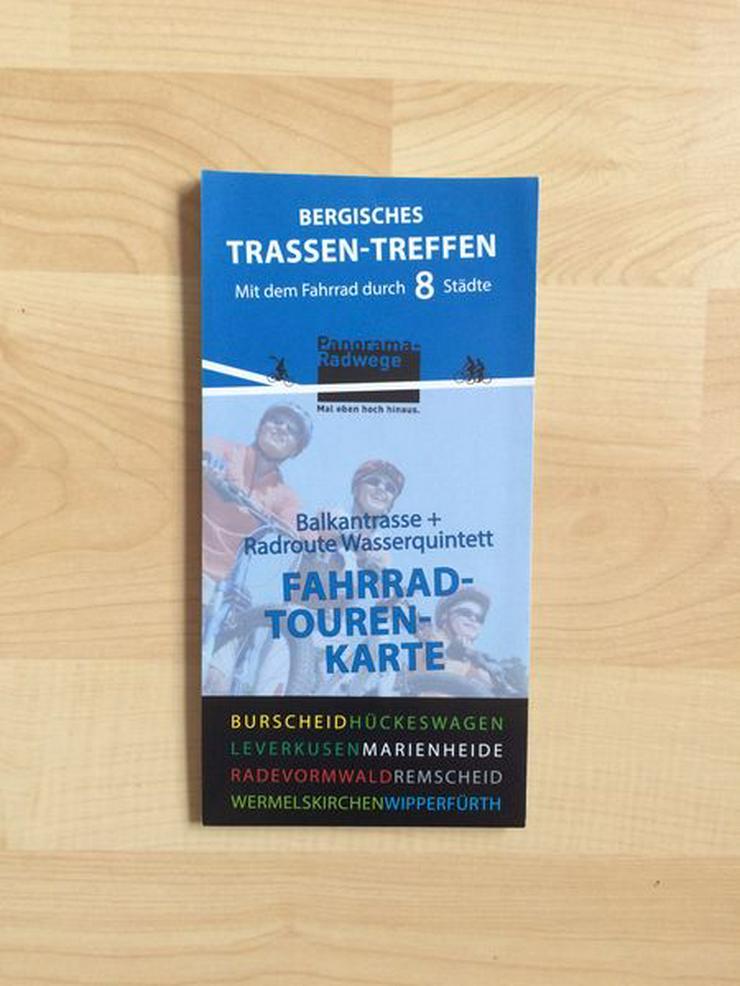Rad Tourenkarte Bahntrassen im Bergischen u. am Rhein
