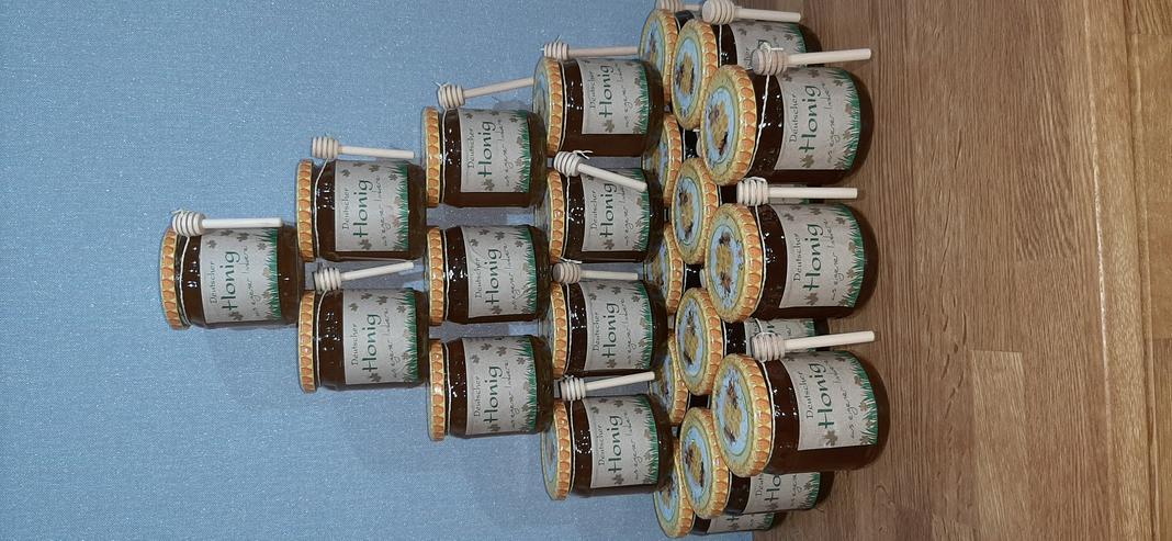 Bild 3: Honig aus eigener Imkerei 500g Glas reiner Blütenhonig