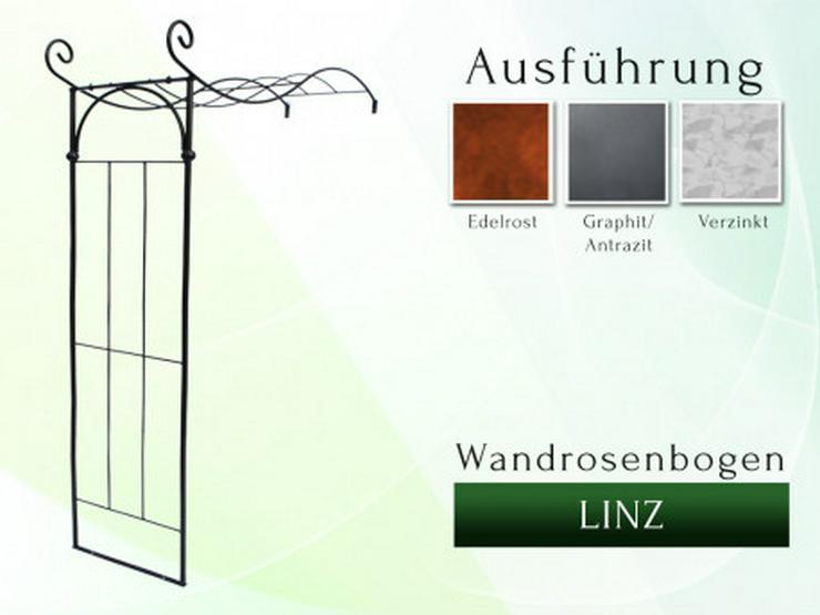 Eisen-, Metall- Wandrosenbogen LINZ Breite 1,4 oder 1,6 m