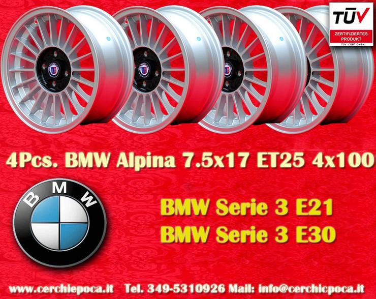 4 Stk. BMW 7.5x17 4x100 BMW E21 E30 Gutachten