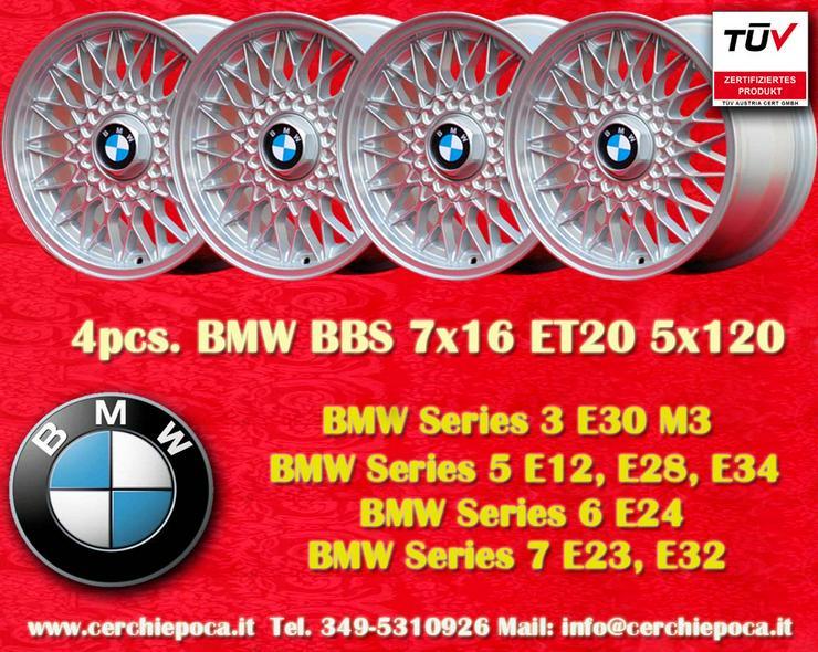 4 Stk. Felgen BMW BBS Design 7x16 5x120 ET20 Silber mit TUV