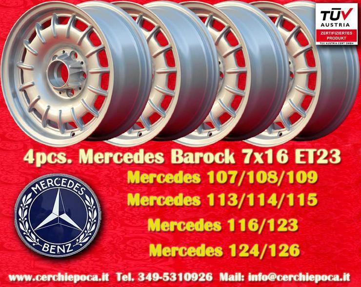 Mercedes Barock 7x16 R107 116 124 126 5x112 Felgen mit TUV