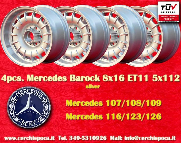 Mercedes Barock 8x16 R107 116 124 126 5x112 Felgen mit TUV