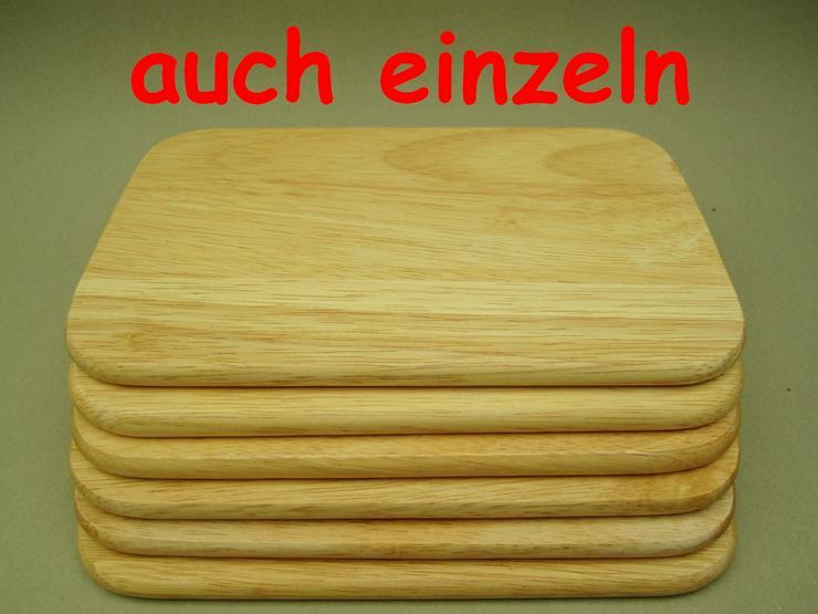 Bild 1: Holzbrettchen Frühstücksbrettchen 6 Stk Brotzeit 23 x 14,5 x 1cm