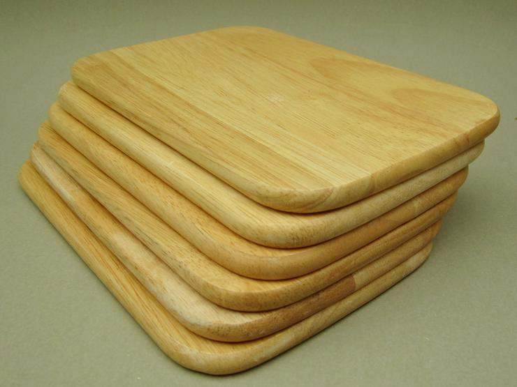 Bild 3: Holzbrettchen Frühstücksbrettchen 6 Stk Brotzeit 23 x 14,5 x 1cm