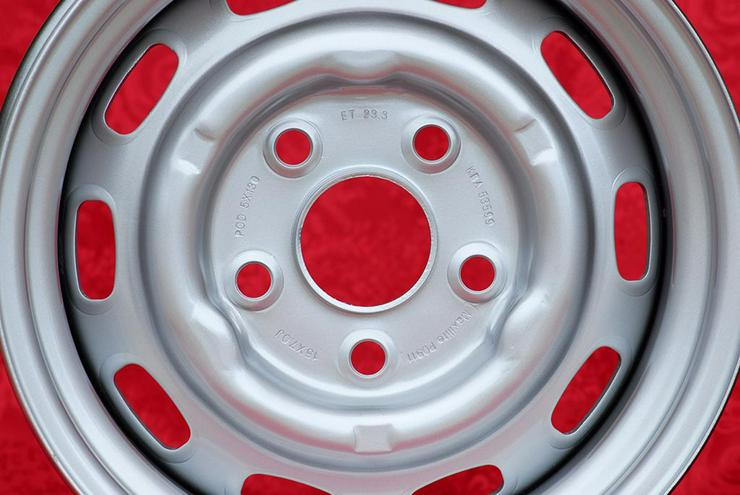 Bild 5: 4 Stk. Porsche 911 912 914-6 7x15 Stahlfelgen