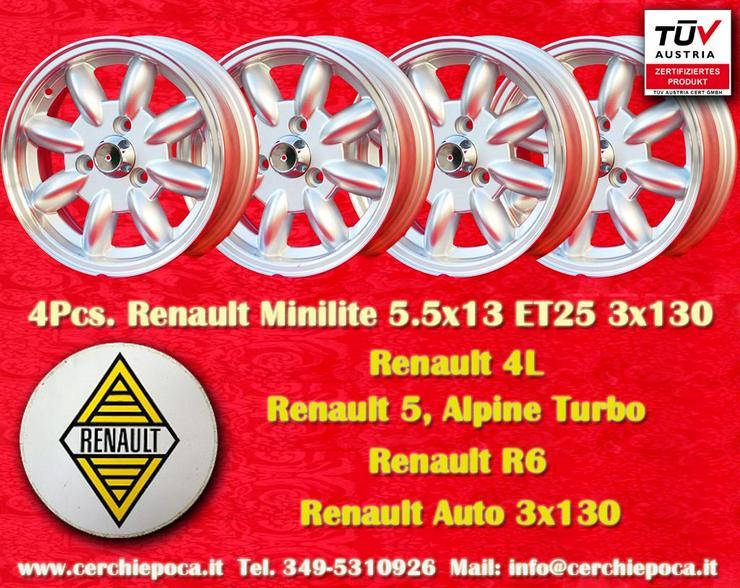 4 Stuck Renault Minilite R4 R5 Turbo R6 5.5x13 Felgen TUV