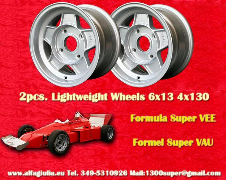 Felgen Formula Super Vee 6x13 4x130 Volkswagen FSV  - Alufelgen - Bild 1