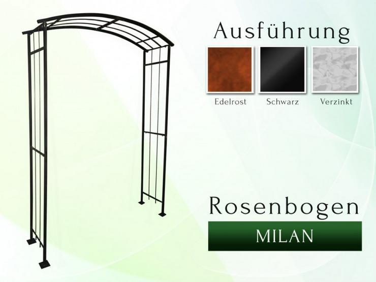 Eisen-, Metall- Gartenbogen MILAN Breite 1,2 – 1,6 m