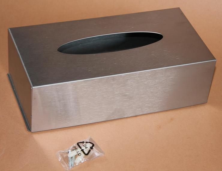 01) Edelstahl - Kosmetiktücherbox - Box für Kosmetiktücher
