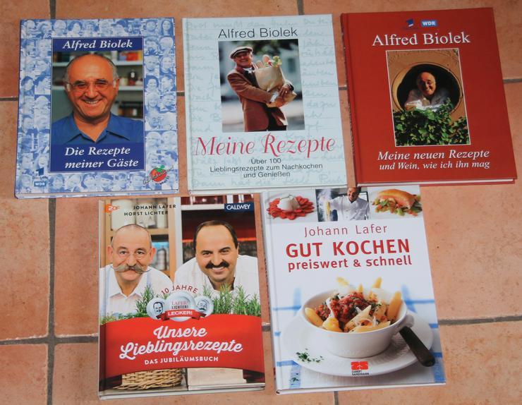 02) Buchpaket Alfred Biolek , Johann Lafer , Horst Lichter ( 5 Bildbände ! ) - Kochen - Bild 1