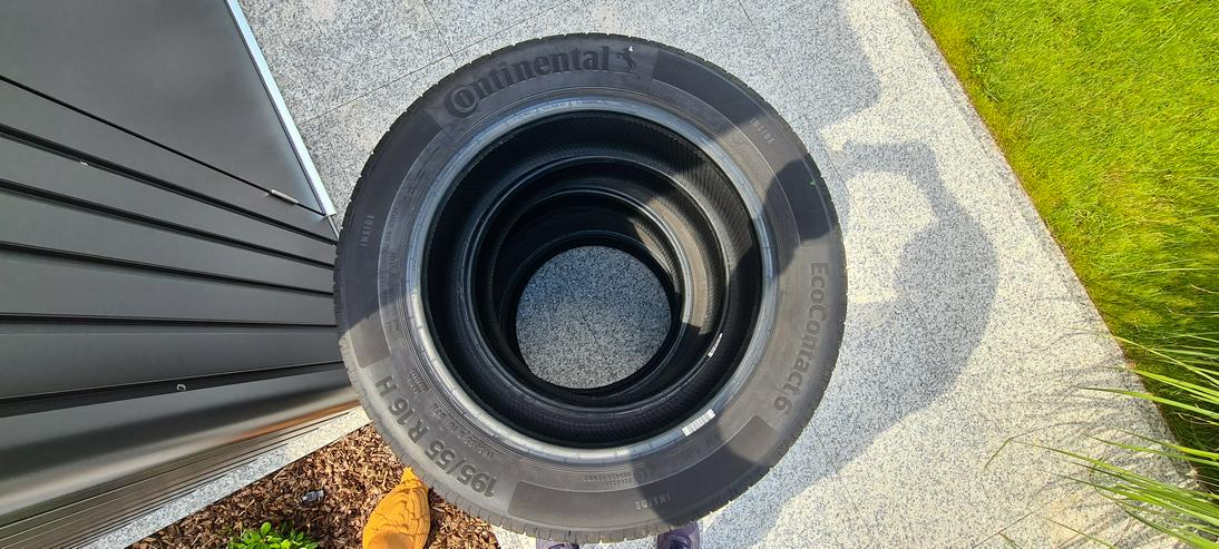 4 absolut neuwertige Reifen 195/55 R16 87H Continental EcoContact 6