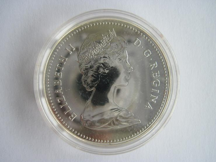 Bild 2: 1 Dollar Kanada 1980 Eisbär Polierte Platte, Silber, in Kapsel und Etui