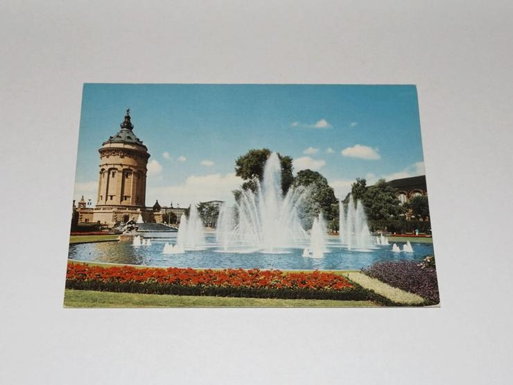 Mannheim-Am Wasserturm--ungelaufen-Postkarte 11323-