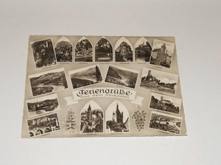Postkarte -11325-Feriengrüße aus dem Neckartal-gelaufen