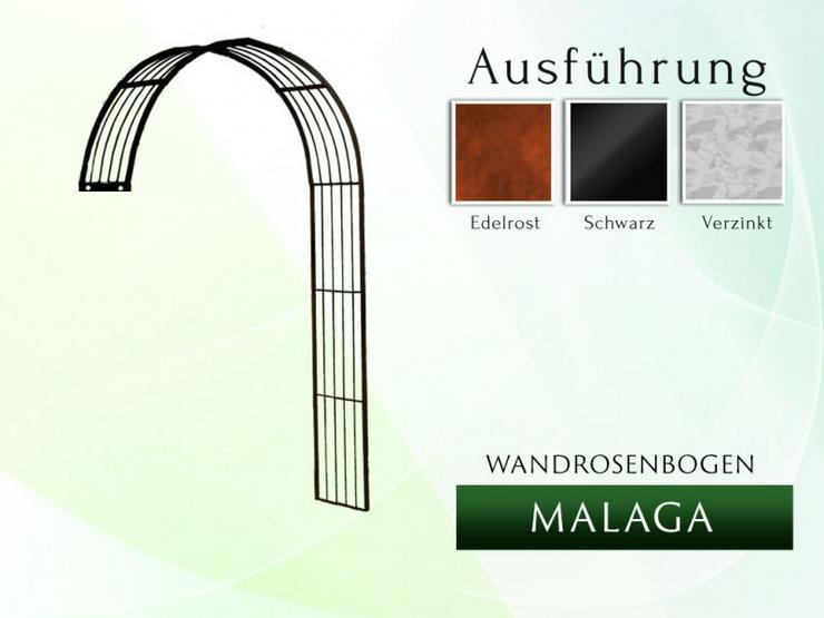 Eisen-, Metall- Wandrosenbogen MALAGA Breite 1,4 bis 3,05 m